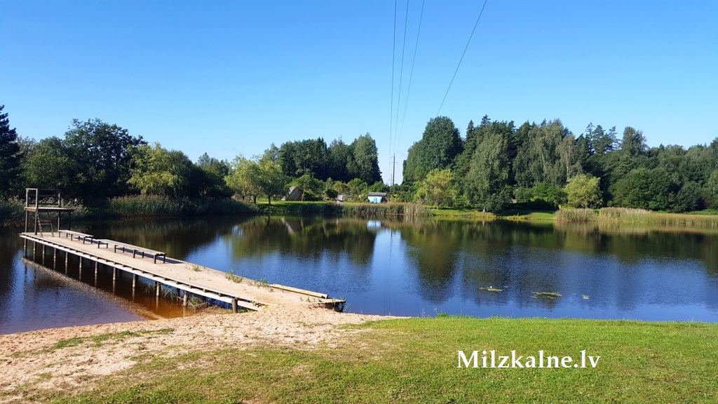 milzkalnes dīķis ezers upe