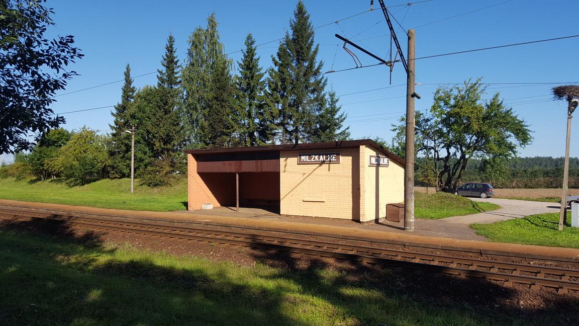 milzkalnes dzelzceļa stacija