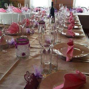 Gražus vestuvių stalo!